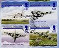 Falkland islands postage stamps prima copertura di giorno Immagini Stock