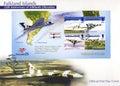 Falkland islands postage stamps prima copertura di giorno Fotografia Stock