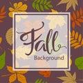 Fall autumn frame border card greeting card background