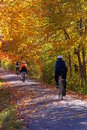 A Fall Bike Trip Stock Images