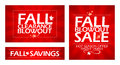 Fall clearance sale banners Royalty Free Stock Image