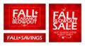Fall clearance sale.