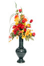 Fall color silk flower arrangement Royalty Free Stock Photography