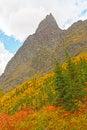 Fall Colors Beneath a Dramatic Peak Royalty Free Stock Photo