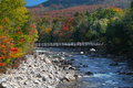 Fall colors change in White mountain New Hampshire Royalty Free Stock Image
