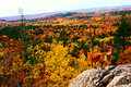 Fall colors from hogback mountain in marquette michigan Stock Photos