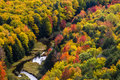 Fall colors at Porcupine Mountains Royalty Free Stock Photo