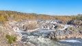 Fall Colors, Potomac River, River Trail, Great Falls National Park, VA Royalty Free Stock Photo