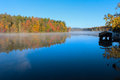 Fall colors reflected on the lake Royalty Free Stock Photo