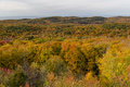 Fall colors at Summit Peak in Porcupine Mountains Royalty Free Stock Photo