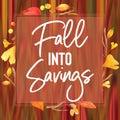 Fall Colors Watercolor Sale Card