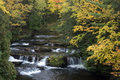 Fall Colors, Waterfall, Scenic Landscape Stock Images