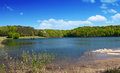 Fall creek falls state a view of the lake at park Royalty Free Stock Photography