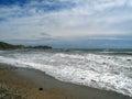 Fall in crimean beach ukraine Stock Image