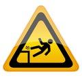 Fall danger sign