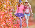 Fall Fashion. Girl Stylish Autumn Outfit. Outdoor Royalty Free Stock Photo