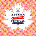 Fall Festival card banner poster Background Maple Leaf