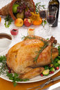 Fall festival roast turkey Royalty Free Stock Image