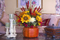 Fall Floral Arrangement Stock Photography