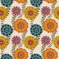 Fall Floral Seamless Pattern, Colorful Autumn flowers Surface Pattern Background Romantic Floral Repeat Pattern for textile design