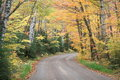Fall foliage on country road Royalty Free Stock Photography