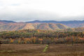 Fall forest and mountains Royalty Free Stock Photo