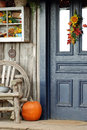 Fall front porch Royalty Free Stock Photo