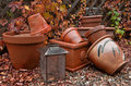 Fall Garden Pots Royalty Free Stock Photo