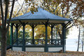 Fall Gazebo on the Lake Stock Photography