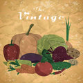 Fall harvest background with space for text. Royalty Free Stock Photo