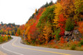Fall highway Stock Photography
