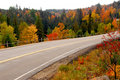 Fall highway Royalty Free Stock Photos