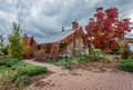 Fall home themes interesting for houses Royalty Free Stock Image