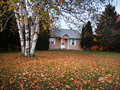 Fall house Stock Photography