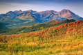 Fall landscape in the Wasatch mountains. Royalty Free Stock Photo