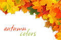 Royalty Free Stock Photos Fall leaves border