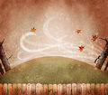 Fall leaves with wind Royalty Free Stock Photo
