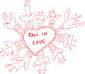 Fall In Love Angeles Stock Image
