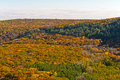 Fall Panorama from a Cliffside Royalty Free Stock Photo