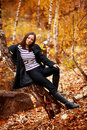 Fall portrait of a beautiful woman Royalty Free Stock Image