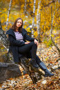 Fall portrait of a beautiful woman Royalty Free Stock Images