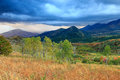 Fall rain storm in the Wasatch mountains. Royalty Free Stock Photo