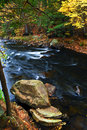 Fall river landscape Stock Photography