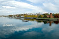Fall river massachusetts viewed from the water Stock Photography