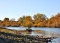 Fall on the Sacramento River Royalty Free Stock Photo