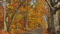Fall Scenic Byway in Bucks County, Pennsylvania Royalty Free Stock Photo