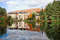 Fall Season in Mont-Tremblant, Quebec, Canada Stock Image