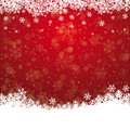 Fall snow stars red white background Royalty Free Stock Photography