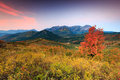 Fall sunrise in the Wasatch mountains. Royalty Free Stock Photo