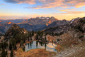Fall sunset landscape in the Wasatch Mountains. Royalty Free Stock Photo